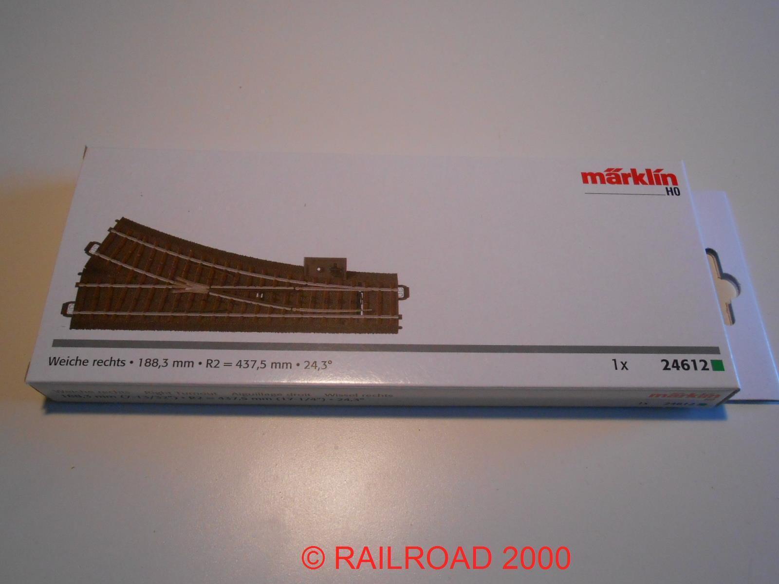 eine C neu Märklin H0 24612 Gleis Weiche rechts