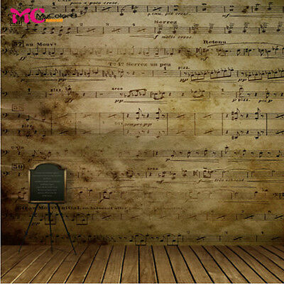 Retro Music Vinyl Photography Backdrop Background Studio Props 10x10ft 13-442