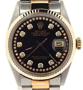 6c290073b69 La foto se está cargando Rolex-Datejust-Hombre-2-Tone-18k-Oro-acero-