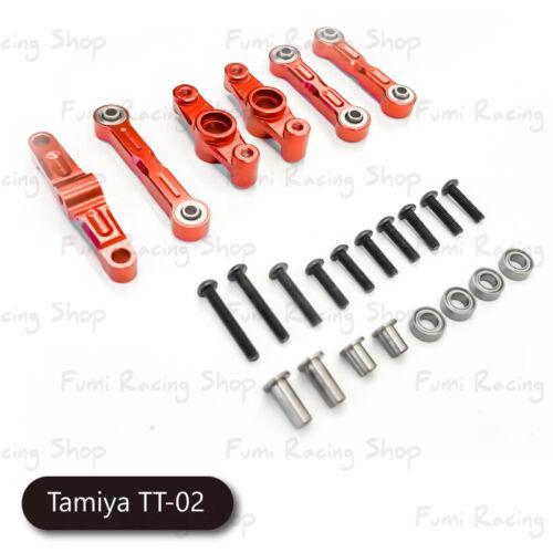 rouge Fumi Aluminium Centre De Direction Set Pour Tamiya TT02-23014r
