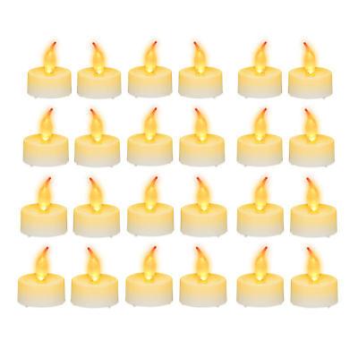 LED Kerze Flackerlicht Partybeleuchtung 48er Set LED Teelichter Flackerkerze