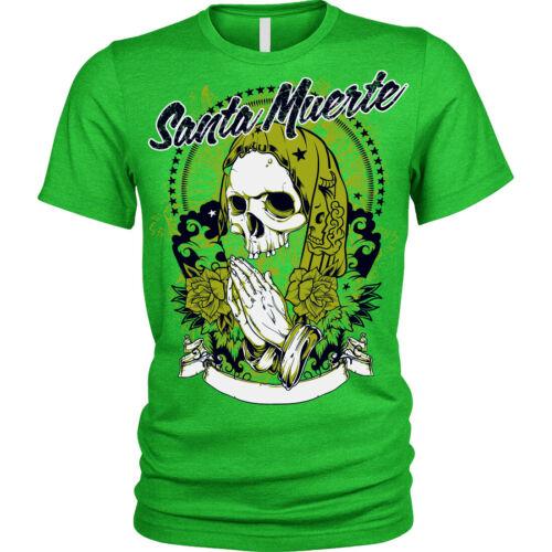 Santa Muerte T-Shirt USA skull death afterlife mexican Mens Womens Childrens