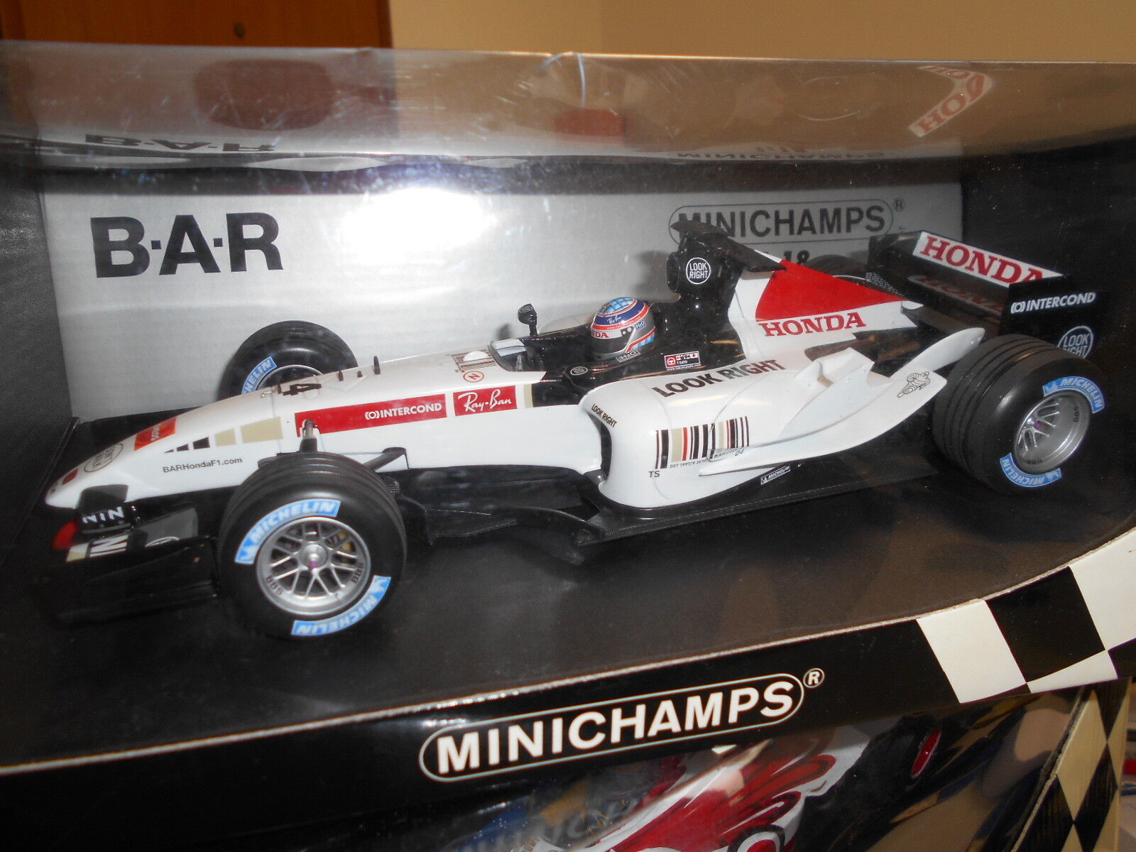 MIN100050004 by MINICHAMPS BAR HONDA 007 T. SATO 2005  18