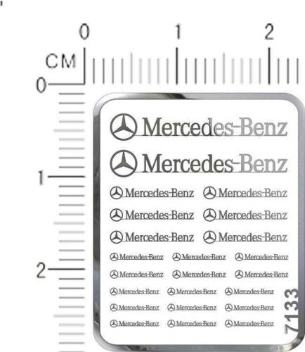 chrome Silver decals Benz for different scales model kits metal 7233