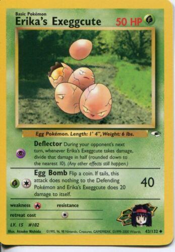 Pokemon Gym Heroes Uncommon Card #43//132 Erikas Exeggcute