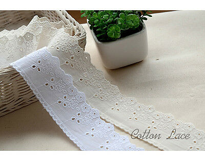 "14yard Broderie anglaise scallop cotton lace trim 2""(5cm) yh1476a laceking"