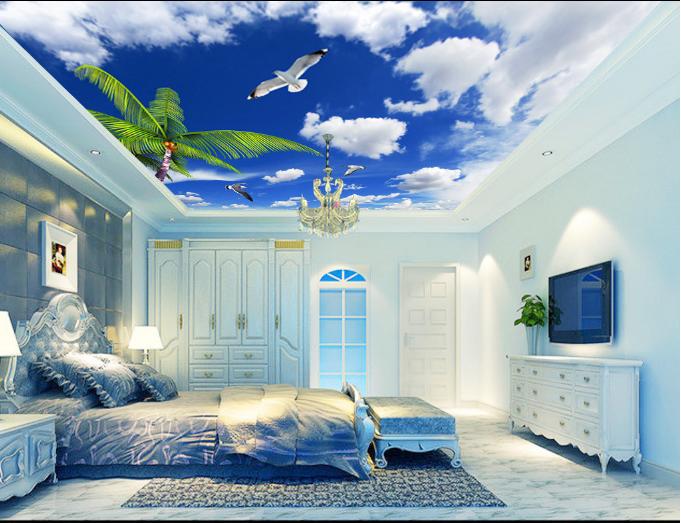 3D Seagull Tree 893 Ceiling WallPaper Murals Wall Print Decal Deco AJ WALLPAPE