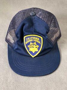 California Highway Patrol CHP Hat Blue Ball Cap