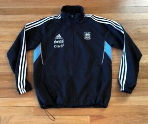 on sale 710aa 718b8 Image is loading Adidas-Argentina-Warm-Up-Jacket-Soccer-Jersey-Barcelona-