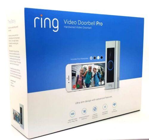 Bague vidéo sonnette Pro-Vidéo HD avec deux sens parler avec vision de nuit infrarouge