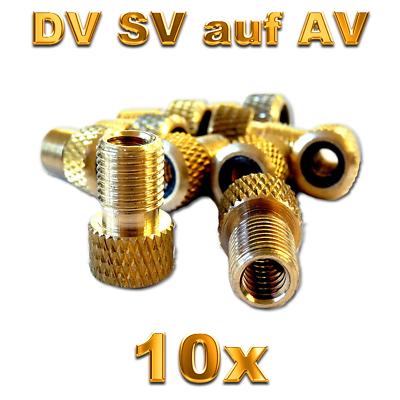 2x Fahrrad Ventil Adapter Ventiladapter von SV DV BV auf Autoventil AV KFZ Pumpe