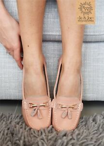 Ladies-Leather-Smart-Loafer-Tassel-Moccasin-Flat-Slip-On-Womens-Shoe-Size-3-8