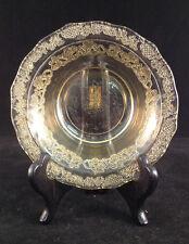 "Amber Federal Depression Normandie Glass Bowl 5-1/2"" Dia. 1-1/4"" Depth"