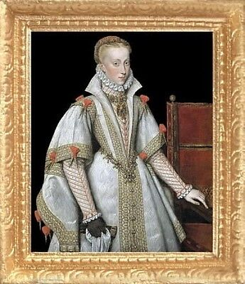 FAST DELIVERY TUDOR WOMAN Dollhouse Picture MADE IN AMERICA Miniature Art