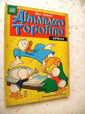 ALMANACCO TOPOLINO  1963 N°  4 - MOLTO BUONO SENZA FIGURINE