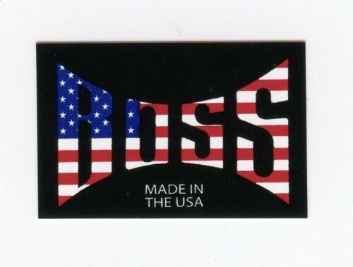 White /& Blue American Flag DECAL BOSS Racing Products BMX 2 Pair BOSS Red