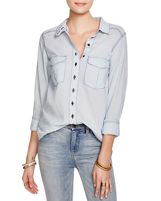NWT Free People Last Chance Button Down Shirt Retail