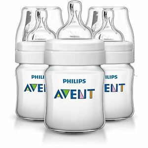 Philips-Avent-3-X-125ml-Triple-pack-4oz-Bottle-Baby-anti-colic-Classic-Plus