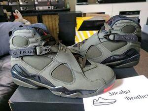 6d5c3837c78 Nike Air Jordan Retro VIII 8 Take Flight Sequoia Black Orange UNDFTD ...