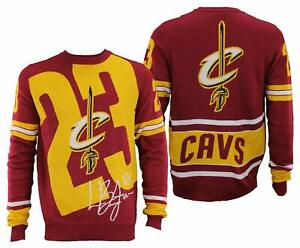 new product 236db f0cd6 Details about FOCO NBA Men's Cleveland Cavaliers Lebron James #23 Loud  Player Sweater