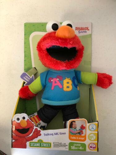 Sesame Street Talking ABC Elmo Red Plush Brand New Playskool