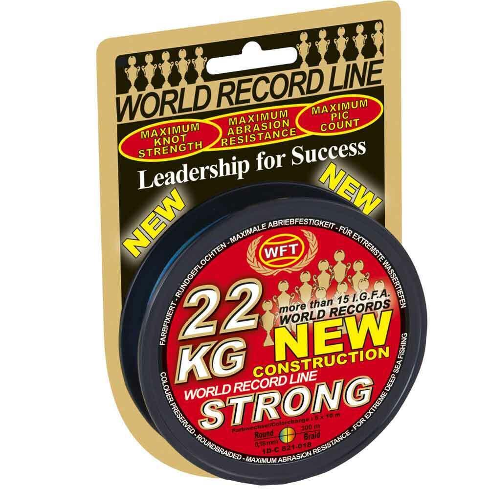 WFT kg STRONG corda MULTIColoreee 300m Bobina di filo intrecciato 15,22,32,39,51kg