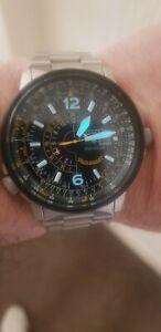citizen promaster watch blue angels GMT  200m wr MENS eco drive PILOT nighthawk