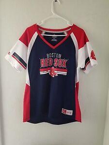 NEW Majestic MLB Apparel BOSTON RED SOX V-Neck Jersey Womens  b8e9d6bf8