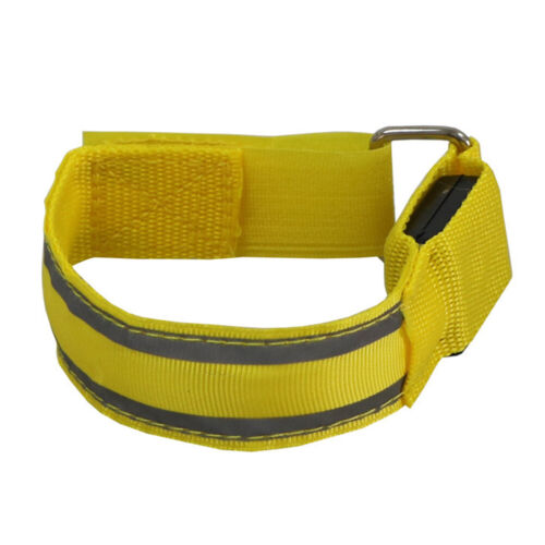 Outdoor Cycling Reflective Adjustable LED Armband Safety Belt Arm Strap Light