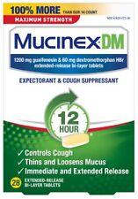 Mucinex DM 1200mg MAXIMUM Strength 12 Hour 14 Tablets