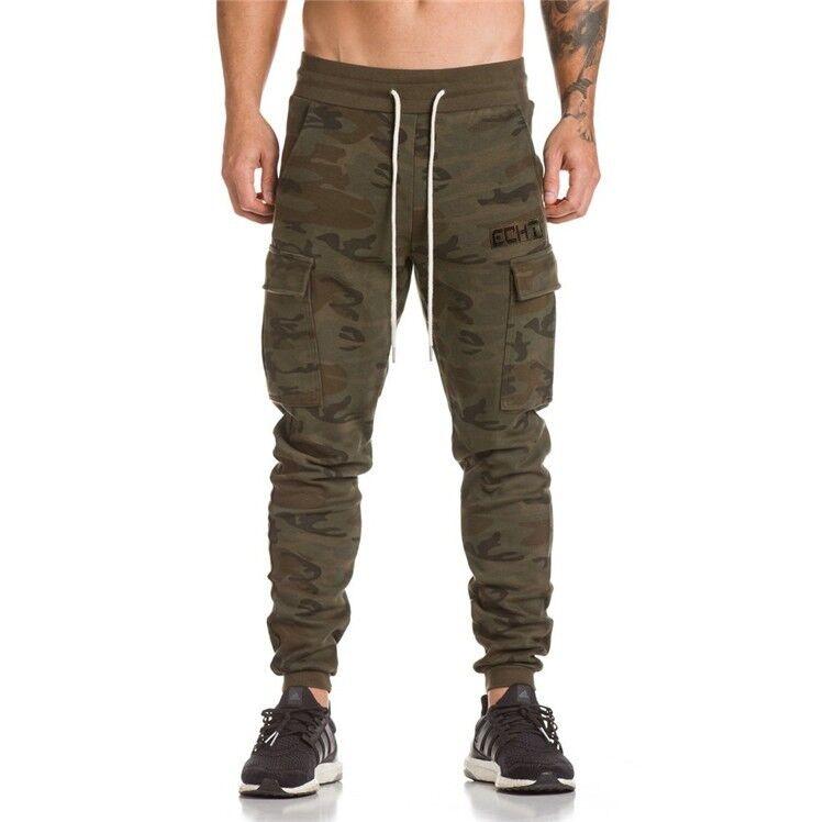 Echt Apparel Training Cargo Pants Camo ECHT Sportswear Gym Tainer