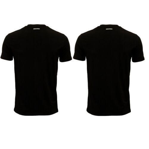 T a paia stretch in nera uomo 2 cotone da girocollo Dsquared2 shirt ZSdqBRZ