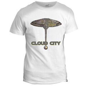 Cloud City Retro Movie T Shirt Bespin Empire Strikes Back Star Wars Blue