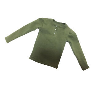 1-6-Scale-Green-Long-Sleeve-T-Shirt-for-12-039-039-Hot-Toy-Male-Action-Figure-Body