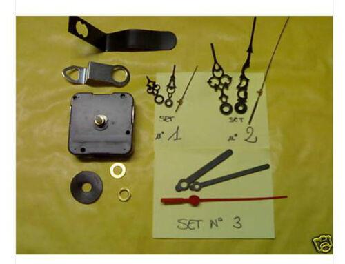 N° 10 meccanismi movimenti ingranaggi orologio quarzo muro clock sfere metallo