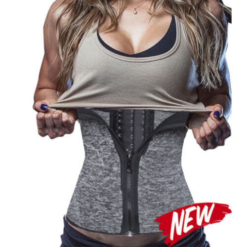 Womens Underbust Corset Waist Trainer Cincher Body Shaper Adjustable Sweat Sport