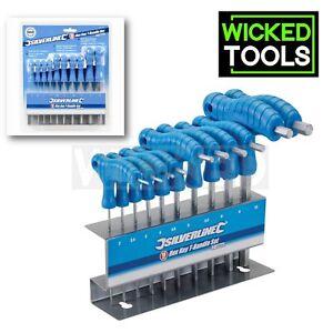 Silverline-10pc-T-Handle-Allen-Keys-Set-2-10mm-Metric-Hex-Wrench-Alan-Key-Stand