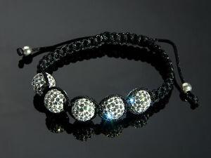 Glamouroeses-SHAMBALLA-Armband-mit-SWAROVSKI-Elementen-16-22-cm-Weisse-Pave-Perlen