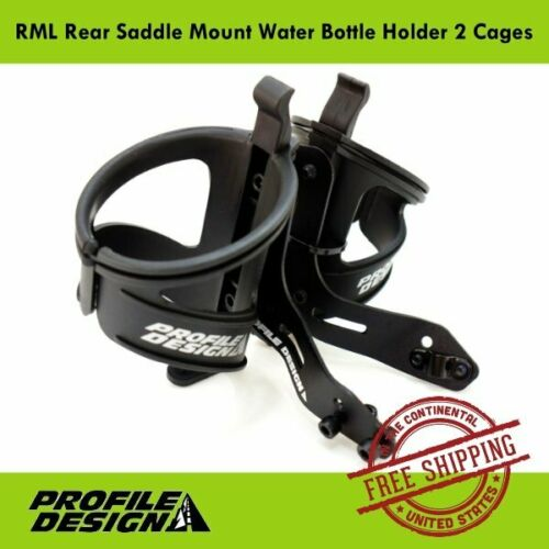 Profile Design RML Rear Saddle Mount Water Bottle Holder 2 Cages Road Tri Bike