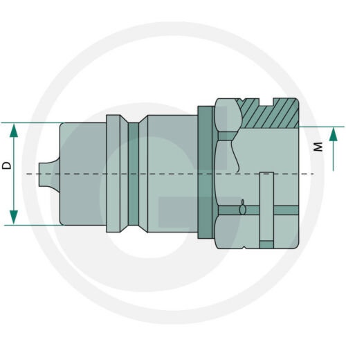 """1//4/"""" Hydraulikstecker/_DN06-BG1/_Steckkupplung/_Schnellkuppler/_Innengewinde"""