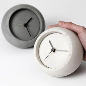 Concrete-Table-Clock-Silicone-Mold-Jewelry-Ornaments-Cement-Storage-Box-Mould