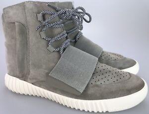 wholesale dealer 3746b ad1fc Details about Adidas Yeezy Boost 750 OG Tan Suede Men's Size 12 US 01/2015  Zipper Strap Shoes
