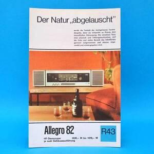 Allegro-82-HF-Stereosuper-1968-Prospekt-Werbung-DEWAG-Werbeblatt-R43-DDR-X