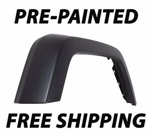 New PAINTED Passenger RH FRONT FENDER FLARE for 2007-2017 Jeep Wrangler JK JKU