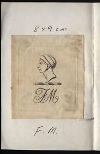 18th-19th-Century-Ex-Libris-Book-Plate-F-M