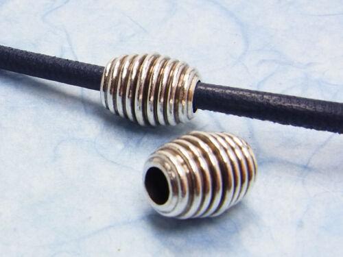 argenté intérieur 5 mm 15 mm 1 Unités; ng27 Métal Perle tonne