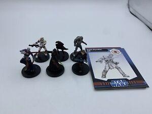6-figure-set-Star-Wars-Miniatures-Anakin-Droid-Asajj-Clone-Luminara-with-cards