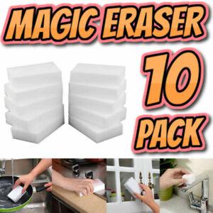 10 X Magic Sponge Eraser éponges Mélamine mousse tache Dirt Mark Remover Nettoyage