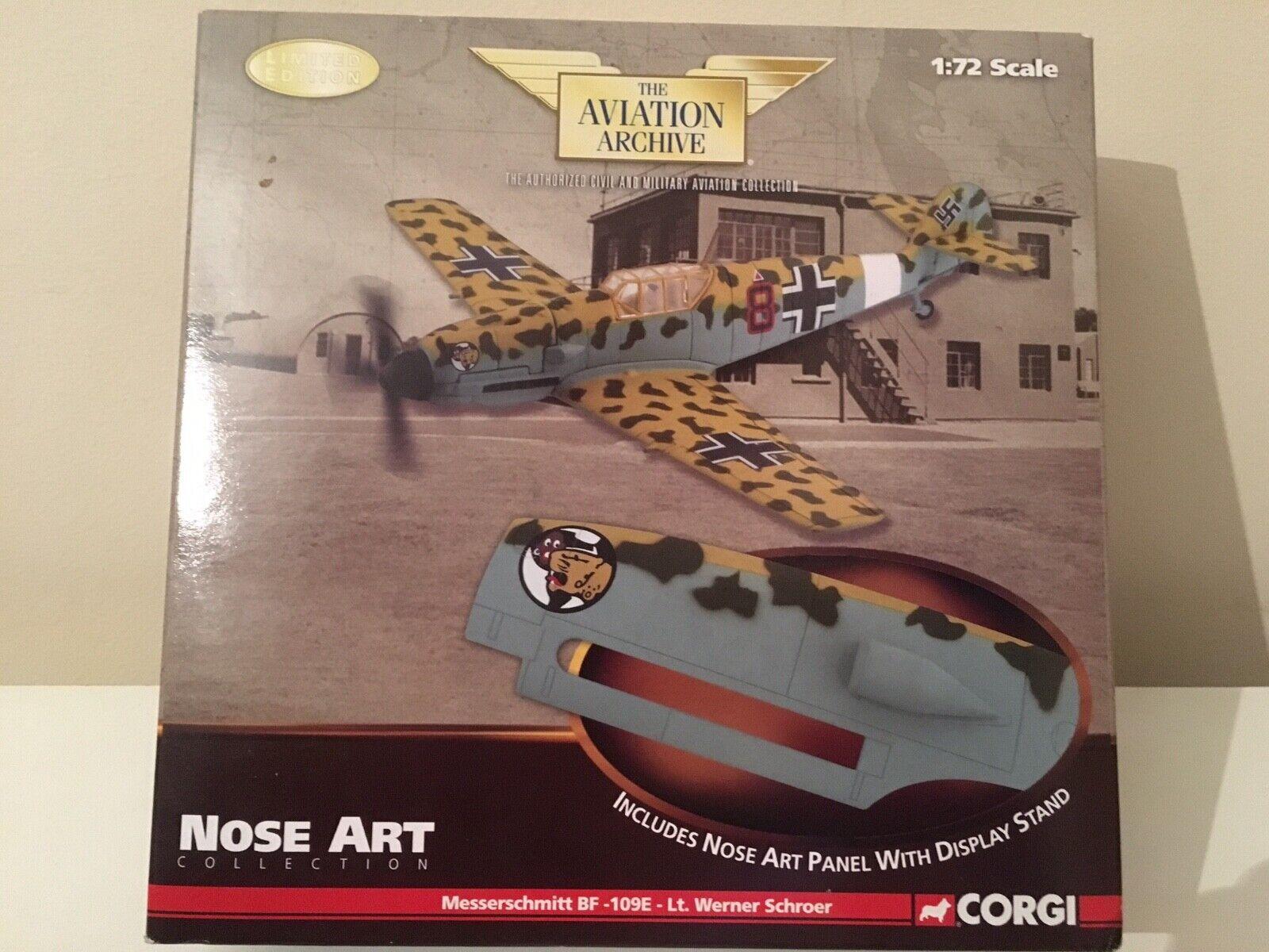 1 72 Corgi US32106 - Messerschmitt BF-109E - NOSE ART - Lt. Werner Schröer