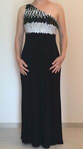 Schönes Abendkleid schwarz lang mit Pailletten von Heine ...